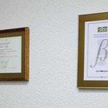 Zornotzako Barnetegia: gure ziurtagiriak